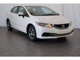 2015 White Orchid Pearl Honda Civic SE Sedan #99201196