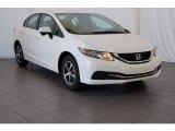 2015 White Orchid Pearl Honda Civic SE Sedan #99201195