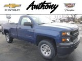 2015 Deep Ocean Blue Metallic Chevrolet Silverado 1500 WT Regular Cab 4x4 #99217104