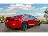 2013 Red Tesla Multi-Coat Tesla Model S P85 Performance #99217171