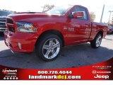2015 Flame Red Ram 1500 Sport Regular Cab #99216849