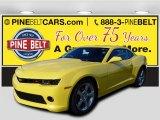 2015 Bright Yellow Chevrolet Camaro LT Coupe #99288841