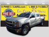 2015 Silver Ice Metallic Chevrolet Silverado 1500 WT Crew Cab 4x4 #99288839