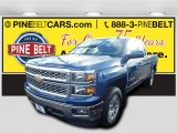 2015 Deep Ocean Blue Metallic Chevrolet Silverado 1500 LT Double Cab #99288838