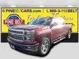 2015 Deep Ruby Metallic Chevrolet Silverado 1500 LT Crew Cab #99288835