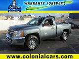 2013 Blue Granite Metallic Chevrolet Silverado 1500 Work Truck Regular Cab 4x4 #99289379