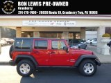 2012 Flame Red Jeep Wrangler Unlimited Sport 4x4 #99327138