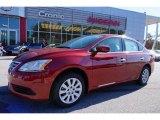 2014 Red Brick Nissan Sentra S #99327275