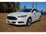 2015 White Platinum Metallic Ford Fusion Titanium #99327358