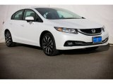 2015 White Orchid Pearl Honda Civic EX-L Sedan #99375212