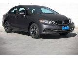 2015 Modern Steel Metallic Honda Civic EX Sedan #99375201