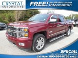 2014 Deep Ruby Metallic Chevrolet Silverado 1500 High Country Crew Cab #99391622