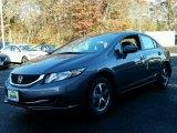 2015 Modern Steel Metallic Honda Civic SE Sedan #99395666