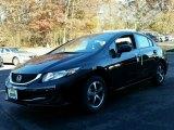 2015 Crystal Black Pearl Honda Civic SE Sedan #99395662