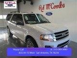 2015 White Platinum Metallic Tri-Coat Ford Expedition EL Platinum #99417060