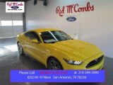 2015 Triple Yellow Tricoat Ford Mustang GT Premium Coupe #99456378