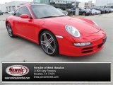 Guards Red Porsche 911 in 2007