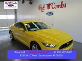 2015 Triple Yellow Tricoat Ford Mustang V6 Coupe #99480971