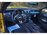 2015 Ford Mustang EcoBoost Coupe Ebony Interior