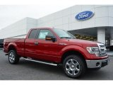 2014 Ruby Red Ford F150 XLT SuperCab 4x4 #99553767