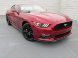 2015 Ruby Red Metallic Ford Mustang EcoBoost Premium Coupe #99553826