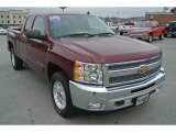 2013 Deep Ruby Metallic Chevrolet Silverado 1500 LT Extended Cab #99553999