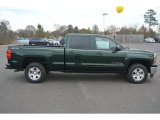 Rainforest Green Metallic Chevrolet Silverado 1500 in 2015