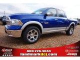 2015 Blue Streak Pearl Ram 1500 Laramie Crew Cab 4x4 #99631853