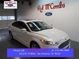 2015 White Platinum Metallic Ford Fusion Hybrid Titanium #99670029