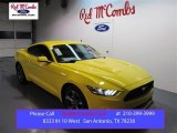 2015 Triple Yellow Tricoat Ford Mustang EcoBoost Premium Coupe #99670033