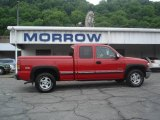 2001 Victory Red Chevrolet Silverado 1500 LS Extended Cab 4x4 #9961980