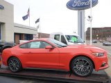 2015 Competition Orange Ford Mustang EcoBoost Coupe #99736419