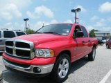 2005 Flame Red Dodge Ram 1500 SLT Quad Cab #9961811
