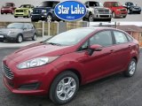 2015 Ruby Red Metallic Ford Fiesta SE Sedan #99765128