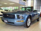 2006 Windveil Blue Metallic Ford Mustang V6 Premium Convertible #9969513