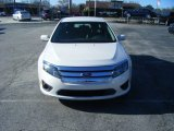 2011 White Platinum Tri-Coat Ford Fusion Hybrid #99826024