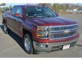 2015 Deep Ruby Metallic Chevrolet Silverado 1500 LT Double Cab #99862936