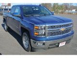 2015 Deep Ocean Blue Metallic Chevrolet Silverado 1500 LT Double Cab #99862935