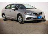 2015 Alabaster Silver Metallic Honda Civic LX Sedan #99902439
