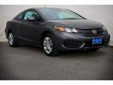 2015 Modern Steel Metallic Honda Civic LX Coupe #99902435