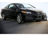 2015 Crystal Black Pearl Honda Civic LX Coupe #99902433