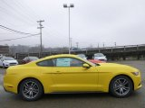 2015 Triple Yellow Tricoat Ford Mustang EcoBoost Premium Coupe #99929344