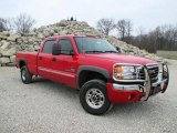 Fire Red GMC Sierra 2500HD in 2007