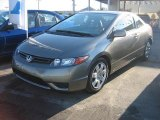 2006 Galaxy Gray Metallic Honda Civic LX Coupe #998260