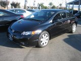 2007 Nighthawk Black Pearl Honda Civic LX Coupe #998261