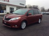 2011 Salsa Red Pearl Toyota Sienna Limited AWD #99960112