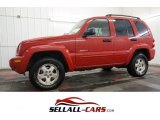 2002 Flame Red Jeep Liberty Limited 4x4 #99959764