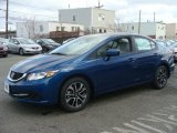 2015 Dyno Blue Pearl Honda Civic EX Sedan #99988160