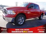 2015 Flame Red Ram 1500 Big Horn Crew Cab 4x4 #99987853