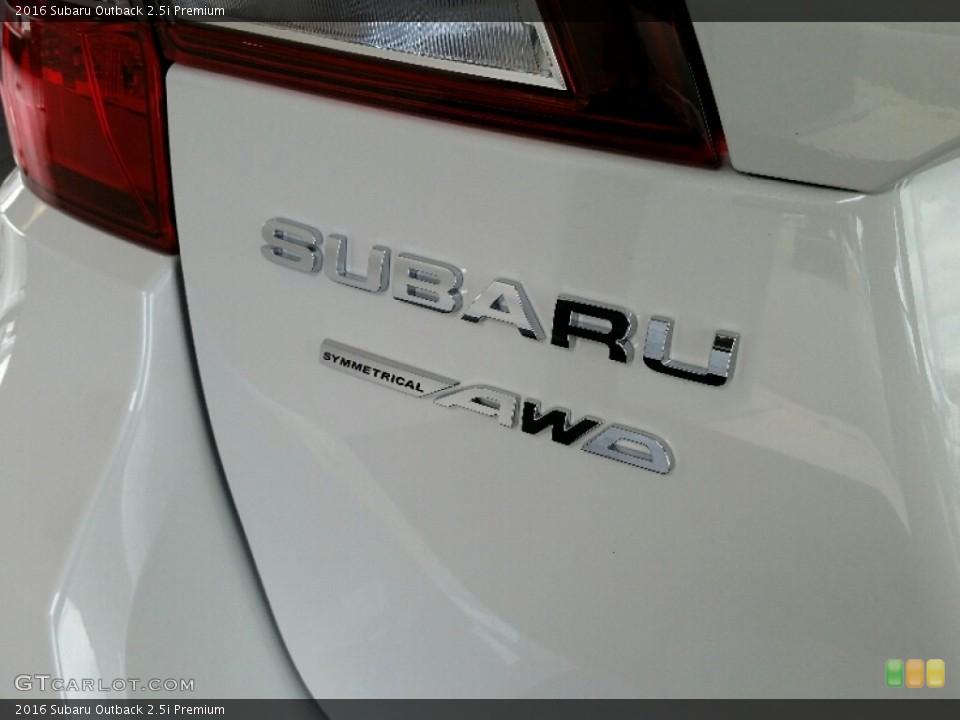 2016 Subaru Outback Badges and Logos